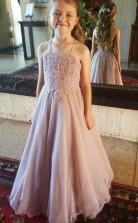 schicke peal rosa Spaghettiträger Kind Mädchen Kleid GACH004