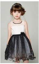 Prinzessin Illusion ärmelloses schwarzes Tüll Mini Kinder Abendkleid (GACH048)