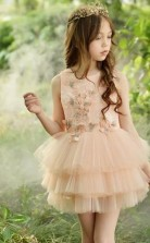 kurze Mini Mädchen Abschlussball Kleid Geburtstagskleid 4-14 Jahre GACH070