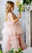 erröten rosa schöne süße Blumenmädchen Kleider glamourösen Vintage Prinzessin Tochter Kleinkind hübsche Kinder Festzug erste heilige Kommunion Kleid GACH075