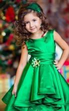 Prinzessin Smaragdgrün Hoch Niedrig Mädchen Festzug Kleider Für Hochzeiten Kinder Kommunion Kleid GBCH012