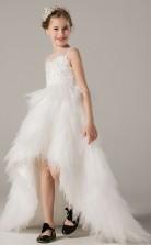 Süße High Low Girls Illusion Kommunion Kleid GBCH016