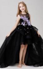 Prinzessin Schwarze Mädchen Hoch Niedrig Festzug Kleid GBCH017