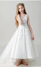 Eine Linie Kinder Mädchen Kommunion Kleid Für 10,11,12 Jahre GBCH019