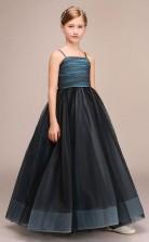 Süße Schwarze Tüll Kinder Mädchen Geburtstagsfeier Blumenmädchen Kleid GBCH030