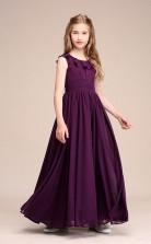 Erschwingliches Traubenjuwel Junior Brautjungfernkleid Bodenlanges Festzugskleid GBCH059