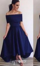 Schulterfreie Brautjungfernkleider Hallo-lo Blaue Einfache Ballkleider BEQ36922