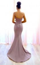 Sexy Spitze ärmellose Brautjungfernkleider Spaghetti-träger Meerjungfrau Abendkleid BEQ79462