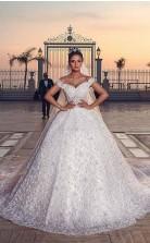 Luxus Schatz Ballkleid Exquisite Spitze Brautkleider Außergewöhnliche GBWD024