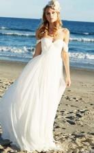 Einfache Sommerliche Fließende Lässige Brautkleider Für Strandhochzeit GBWD090