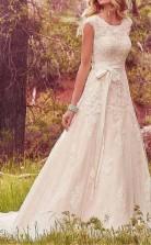 Ein Line Country Lace Brautkleid Mit Langen Zügen In Meiner Nähe GBWD122
