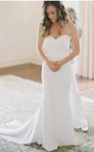 Trägerlose Einfache Schatz Land Meerjungfrau Hochzeitskleid Birmingham GBWD139