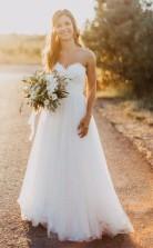 Schatz A-linie Spitze Land Sommer Hochzeitskleid GBWD210