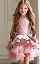 A-line ärmelloses 2-8 Jahre Kinder Ballkleid Für Mädchen CH0110