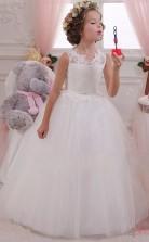Süße Blumenmädchen Kleider Ballkleid ärmellose Kinder Abschlussballkleid Für Mädchen CH0111