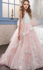 Prinzessin ärmelloses Kinder Ballkleid Für Mädchen CH0116