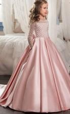 New Style Prinzessin Langarm Kinder Ballkleid Für Mädchen CH0118
