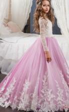 Schicke Prinzessin Langarm Kinder Ballkleid Für Mädchen CH0119