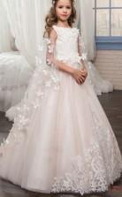 Prinzessin Schmetterling Umhänge ärmellose Kinder Ballkleid Für Mädchen CH0120