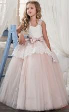 Prinzessin ärmelloses Kinder Ballkleid Für Mädchen Mit Schleifen CH0129