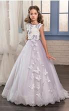 Juwel ärmellose Lila Kinder Ballkleider Chk018