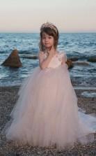 Juwel Kurzarm Erröten Rosa Kinder Ballkleider Chk026