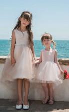 Juwel ärmellose Süßigkeiten Rosa Kinder Ballkleider Chk029
