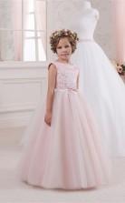 Juwel ärmellose Süßigkeiten Rosa Kinder Ballkleider Chk046