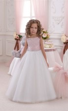 Juwel ärmellose Süßigkeiten Rosa Kinder Ballkleider Chk047
