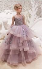 Mädchen Bodenlangen Partykleid Stralia Kinder Abendkleid Chk051