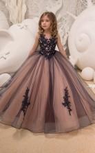 Mädchen Bodenlangen Partykleid Stralia Kinder Abendkleid Chk054