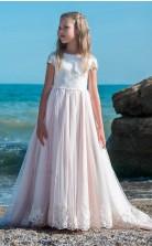 Mädchen Bodenlangen Partykleid Stralia Kinder Abendkleid Chk079