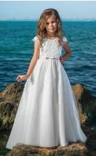 Mädchen Bodenlangen Partykleid Stralia Kinder Abendkleid Chk080