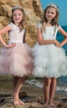 Mädchen Knielang Partykleid Stralia Kinder Abendkleid Chk097