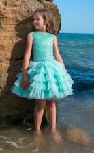 Mädchen Knielang Partykleid Stralia Kinder Abendkleid Chk098