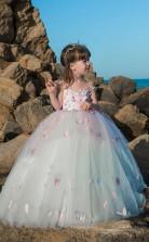 Mädchen Bodenlangen Partykleid Stralia Kinder Abendkleid Chk101