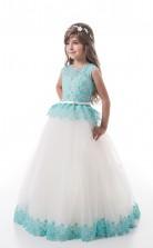 Mädchen Bodenlangen Partykleid Stralia Kinder Abendkleid Chk130