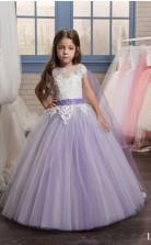 Tüll, Spitze Prinzessin Illusion Flügelärmel Kleider Für 8 Jahre Chk152