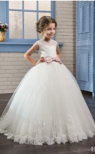 Tüll, Spitze Prinzessin Illusion ärmellose Kleider Für 6 Jahre Chk159