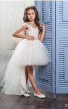 Tüll, Spitze Prinzessin Illusion Flügelärmel Hohe Niedrige Kleider Chk163