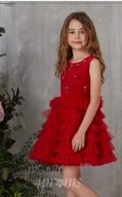 Burgunder Organza Juwel ärmellose Mini Prinzessin Kinder Ballkleid (FGD326)