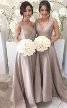 ärmelloses Brautkleid Aus Transparentem Tüll Mit Offenem Rücken Aus Stretch-satin Mit V-ausschnitt JJ01462