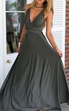 Empire V-ausschnitt Bodenlang Mit Gerafften Chiffon Kleid JTC16603