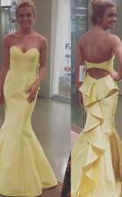 Meerjungfrau Satin Schatz Zug Mit Schichten Kleid JTC3623