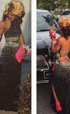 Mantel Chiffon Halfter Zug Mit Perlen Zweiteiligen Kleid JTC3733