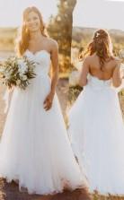 Sweetheart Bodenlanges Brautkleid In Elfenbein Mit Spitze Twa0592