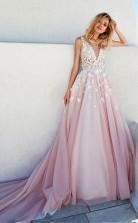 Romantisches Brautkleid Aus Tüll Und Taft Mit U-ausschnitt In A-linie Twa1892