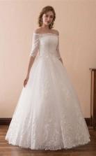 Schulterfreies Ballkleid Brautkleid Mit 12 Ärmeln Twa2212