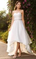 A-linie Sweetheart High Low Satin Brautkleid Mit Perlenstickerei Twa2312