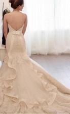Brautkleid Im Meerjungfrau-tüll Mit Spitzenapplikationen Twa2992